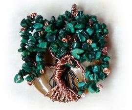 Wire Wrapped Gemstone Tree