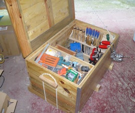 Arcon para herramientas con madera de palet - Tool chest with palet wood