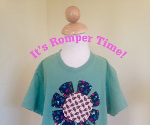 Make a Toddler Romper From a Plain Tee Shirt