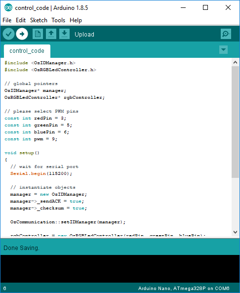 Picture of Upload a Control Code to Arduino Nano