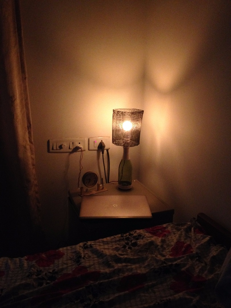 Picture of A Rs100 (hardly 2$) Bottle Lamp