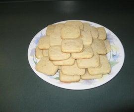 Vegan Maple Shortbread Cookies