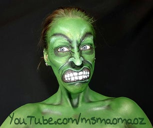 How to Paint Your Face Like Hulk!