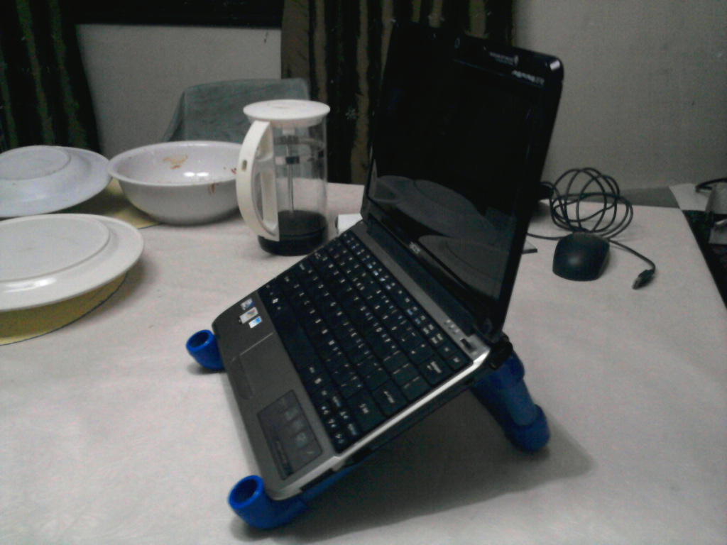 Picture of Laptop Stand Made From Pvc Pipes