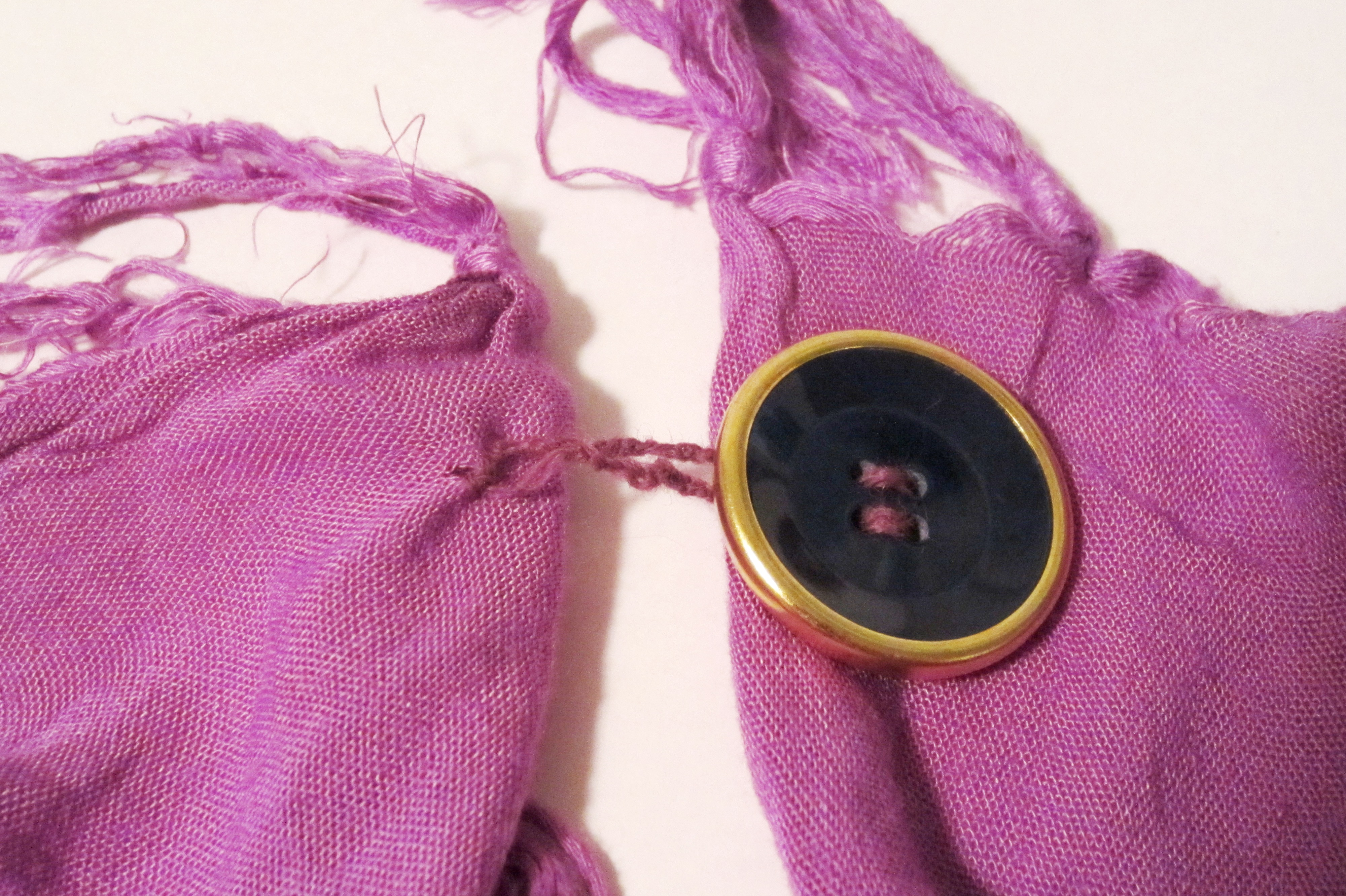Picture of Sewing a Button Loop