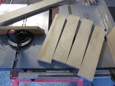 Cutting the Side Rails and Stiles