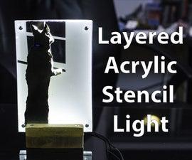 Multi-Layer Acrylic Stencil Desk Light