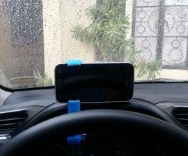 Car Phone Mount Using PVC
