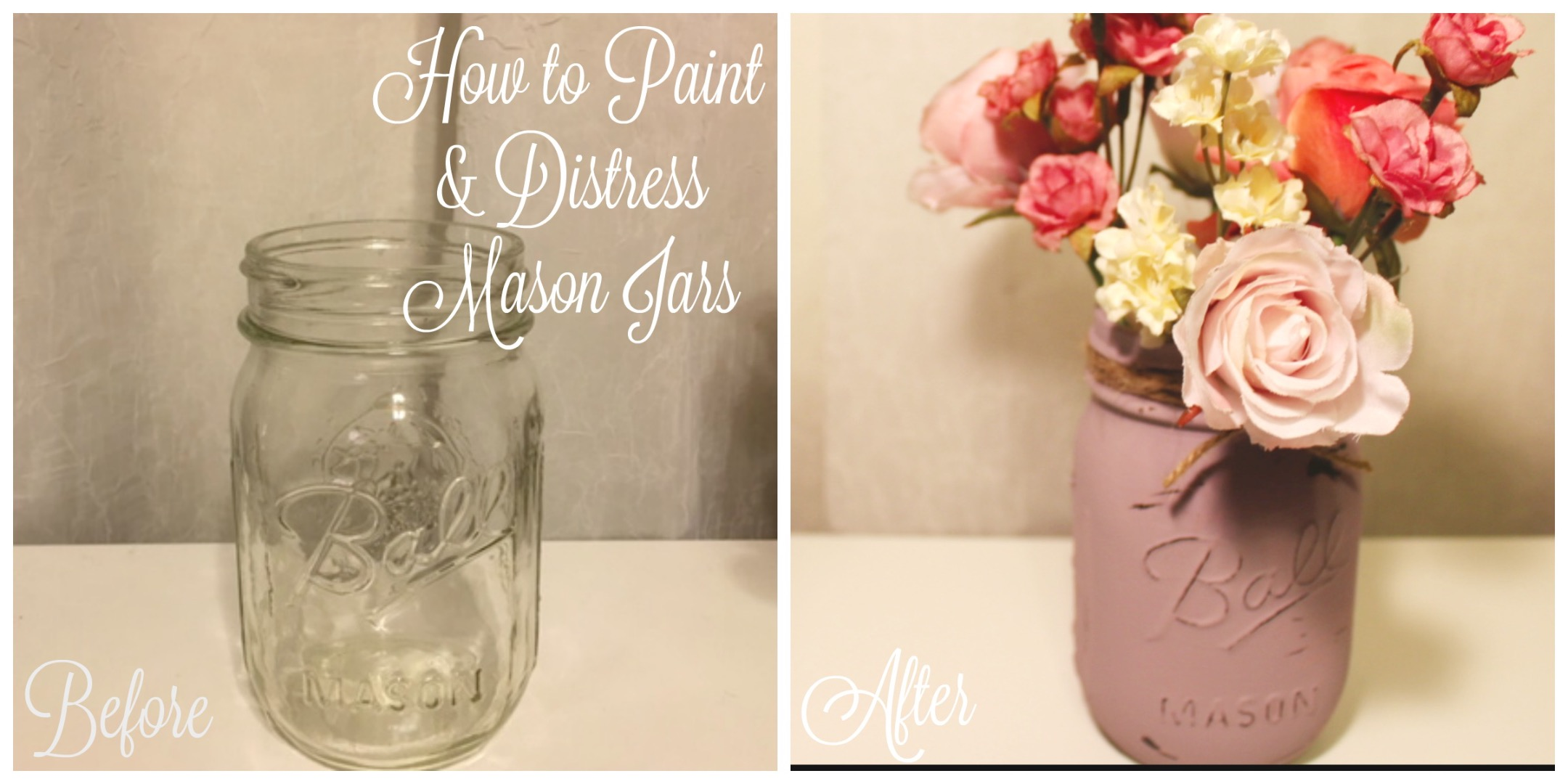 Picture of How to Paint & Distress Mason Jars