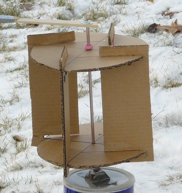 Cardboard Savonius Wind Turbine