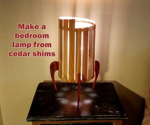 Make a Bedroom Lamp From Shims