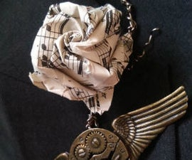 Sheet Music and Metal Boutonniere