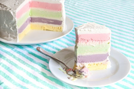 Rainbow Ice Cream Cake Recipe