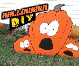 DIY Halloween Pumpkin Yard Decoration