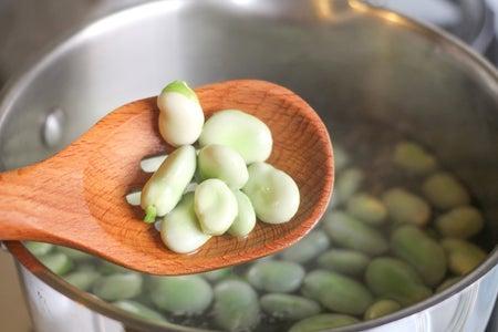 Boil the Fava Beans