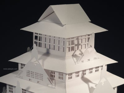 The Osaka Castle Pop-up Card Kirigami Origamic Architecture
