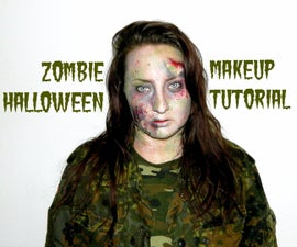 ZOMBIE Halloween makeup tutorial