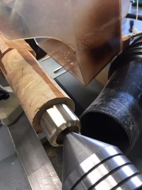 Picture of Using a Course, Medium and Fine File on the Brass Fitting