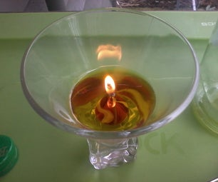 Simple Oil Lamp or Candle Using Household Oil and Hemp Wick