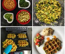 Wafalafel: delicious blend-free waffled falafels
