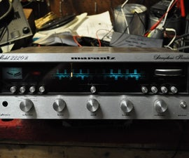 Bringing new life to an old classic marantz stereo receiver with a class D amp board.