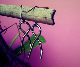 How to make Earring from old solved Wire puzzle