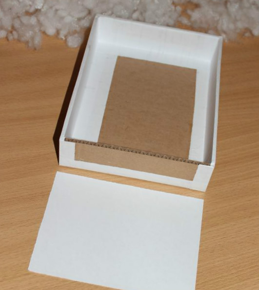 Picture of Glue Paper Strips to the Sides of the Frame