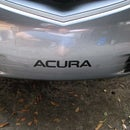Acura TL - Font Bumper Logo Painting
