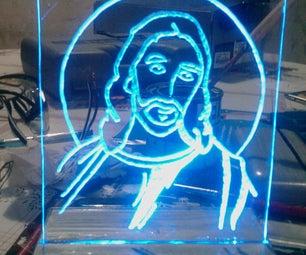 Jesus LED Acrilico (plexiglas)