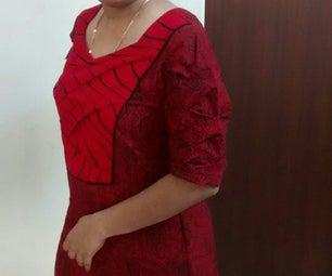 Origami Bamboo Sleeve and Yoke Dress