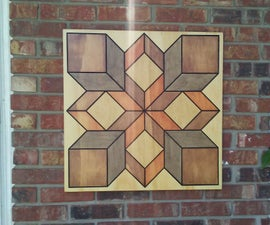 Barn Quilt Sign on a CNC