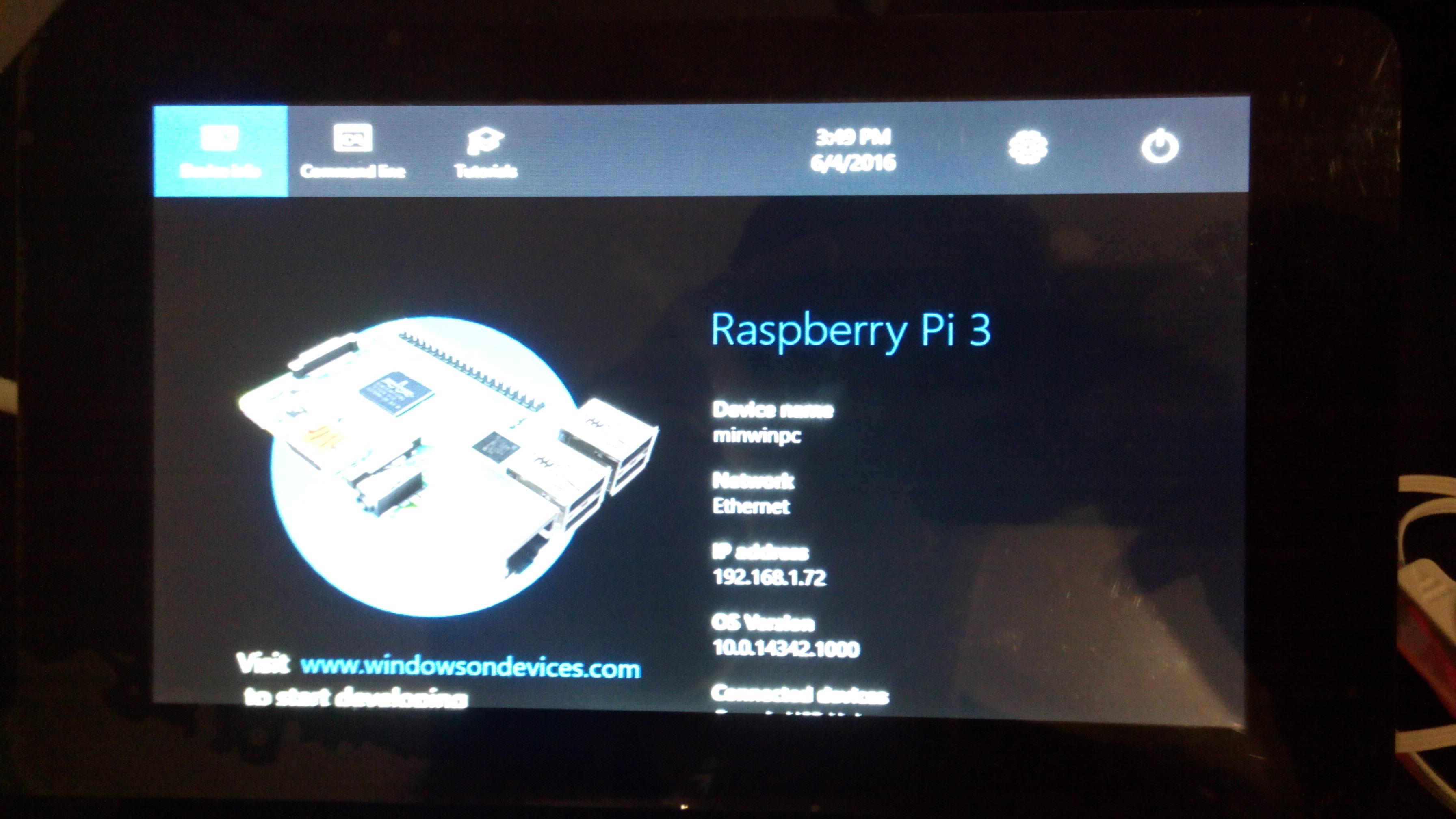 Picture of Setup Windows 10 IoT