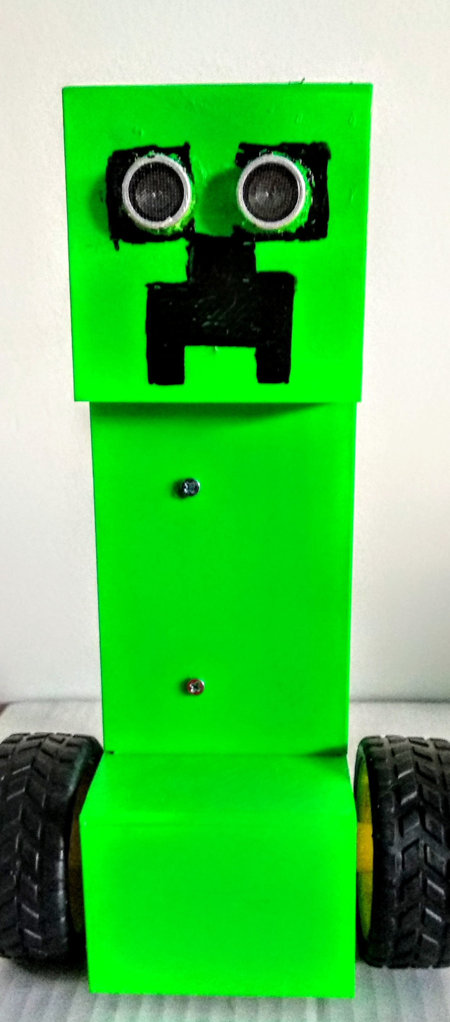 Picture of Obstacle-Avoiding Minecraft Creeper Robot
