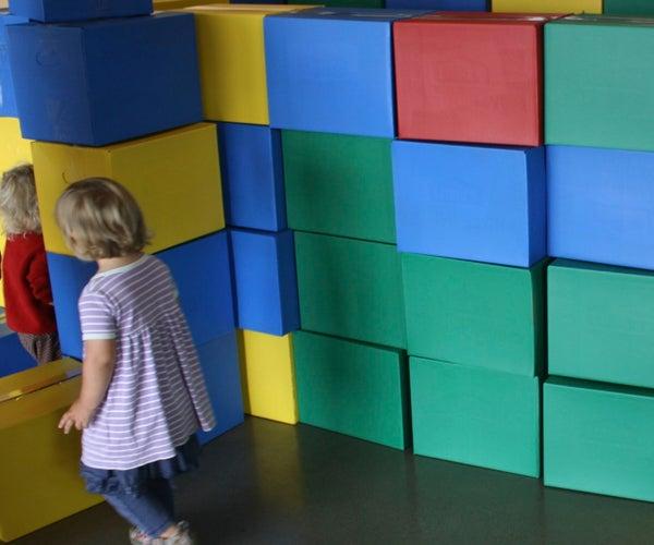 Giant Cardboard LEGO Blocks