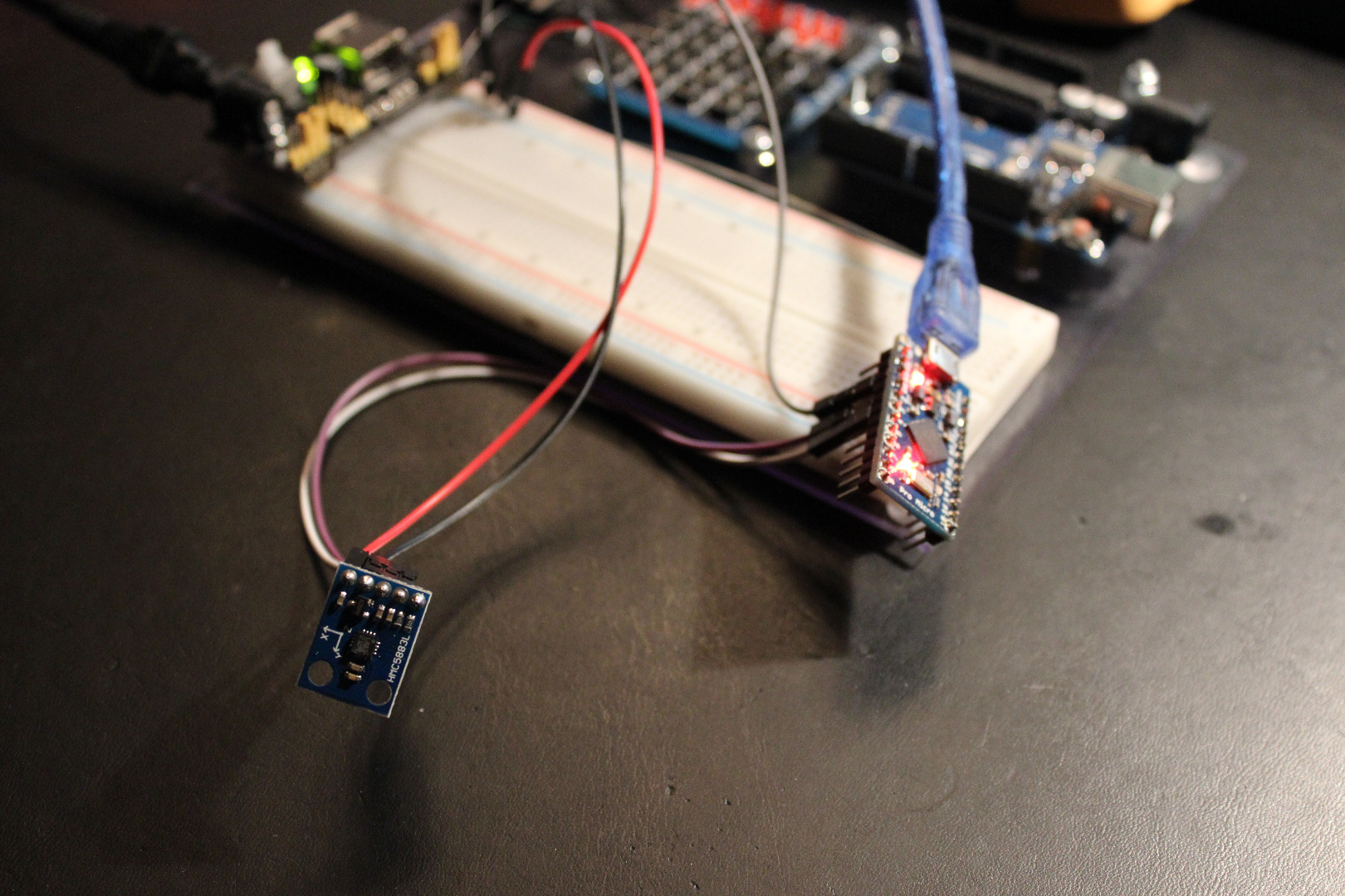 Picture of Testing the Sensors