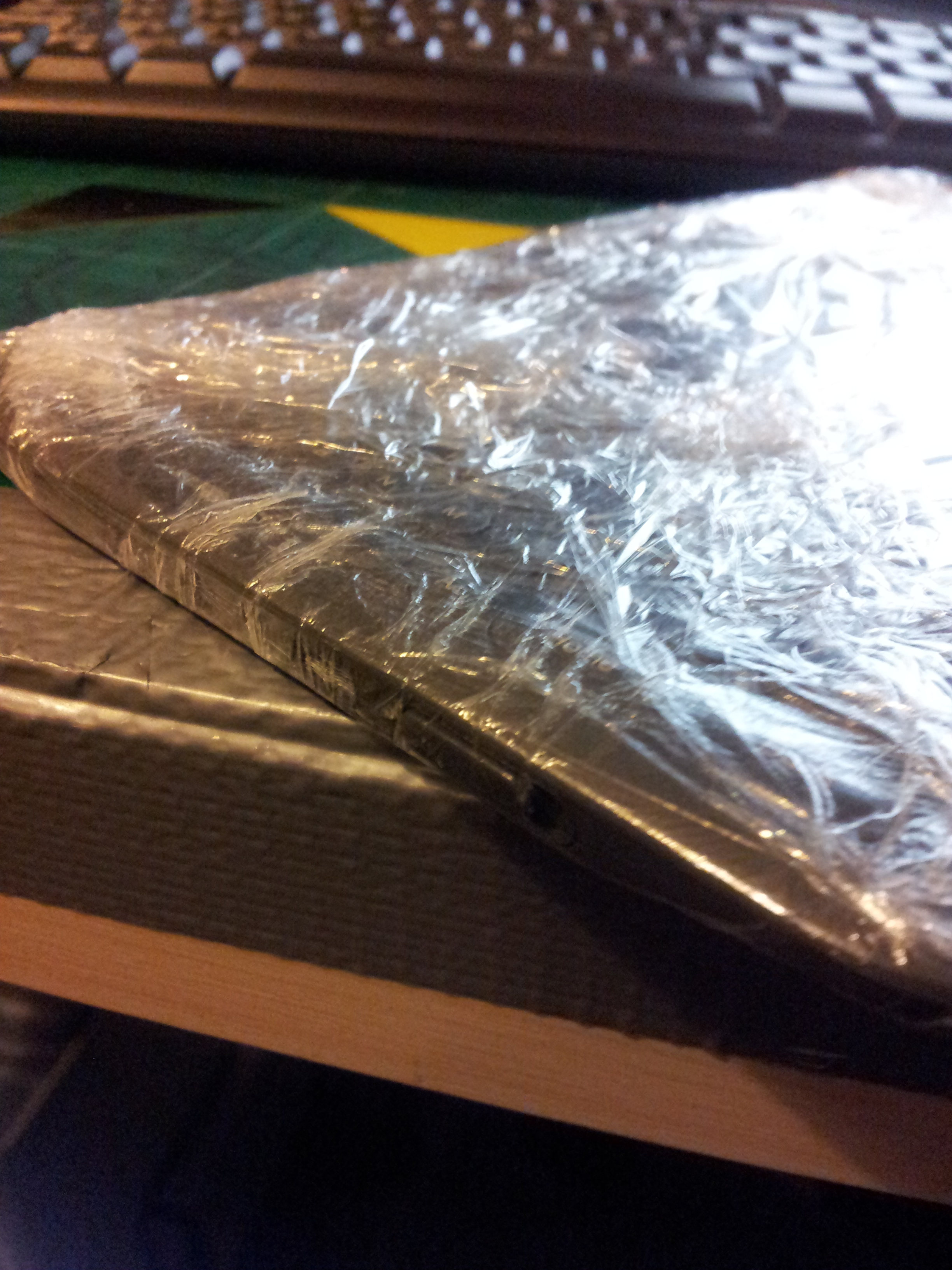 Picture of Now Wrap Your Kindle in Cling-film and Apply Vaseline.