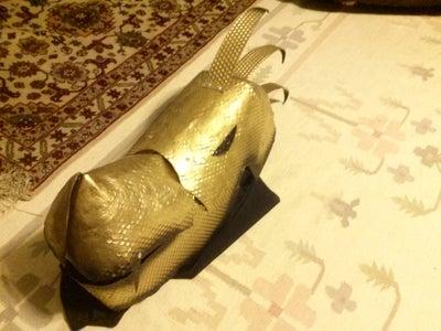 Golden Dragon Mask/ Helmet