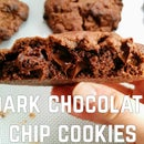Dark Chocolate Chip Cookies - Levian Bakery Copycat