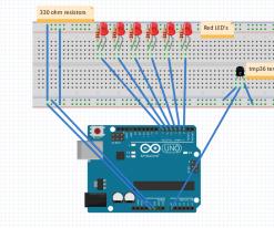 Arduino portable temperature display
