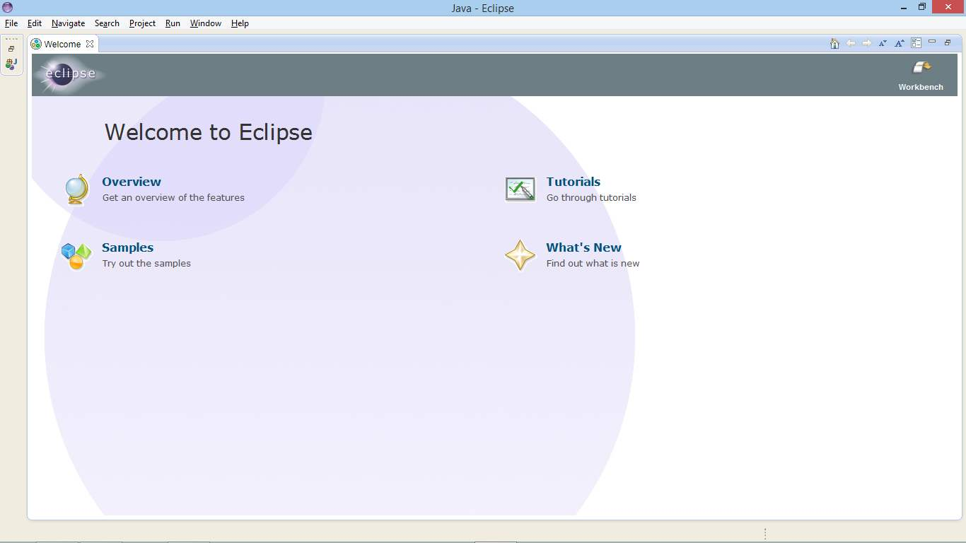Picture of Run Eclipse for First Time