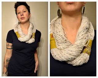 No Sew (or Knit!) Yarn Infinity Scarf Tutorial