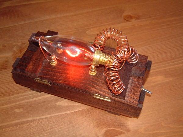 Steampunk Plasma Candle