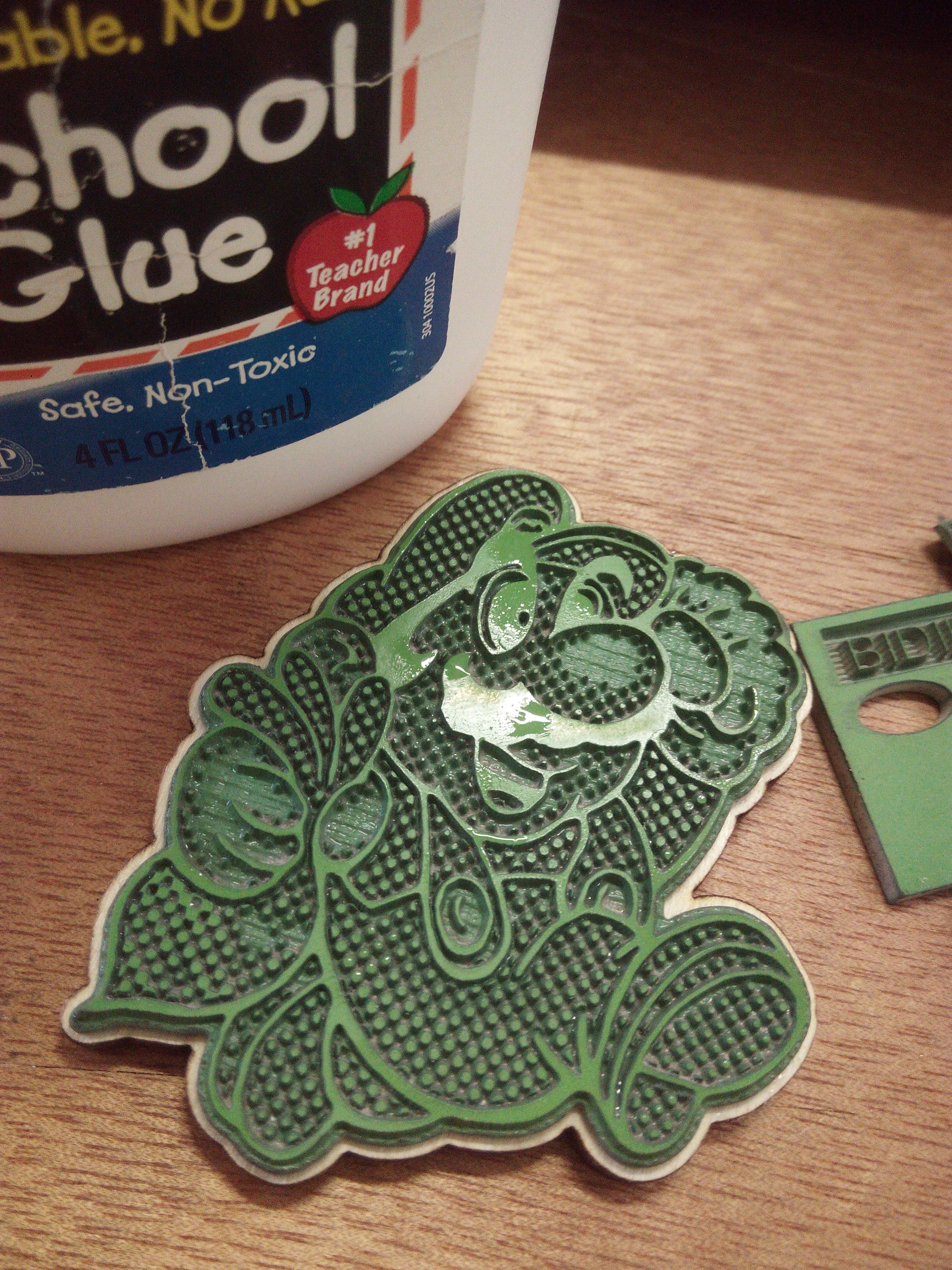 Picture of Clean the Stamp and Glue to the Support