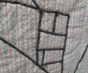 """Drawing"" on Fabric With Yarn (aka Couching)"