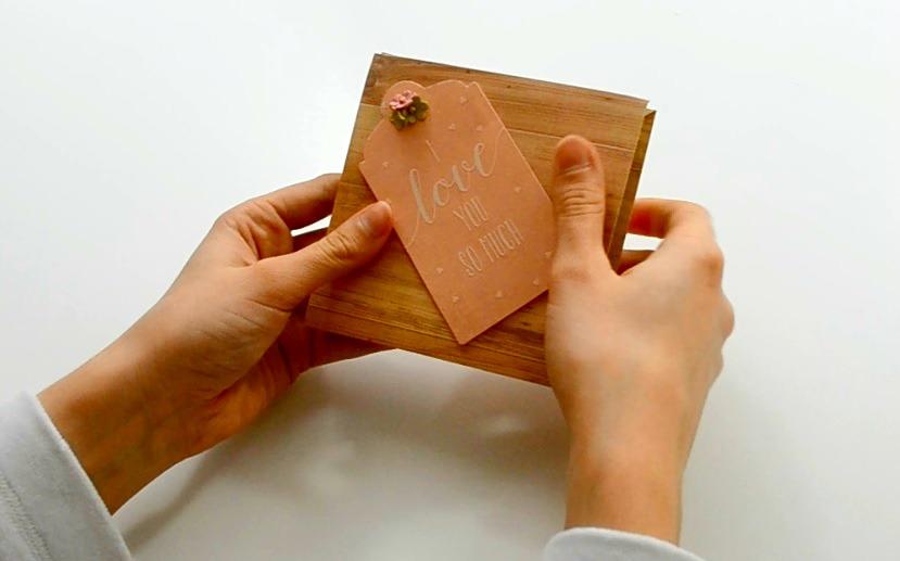 Picture of Mini Album - How to Make a Squash Book ( Squash Card ) - DIY Paper Crafts