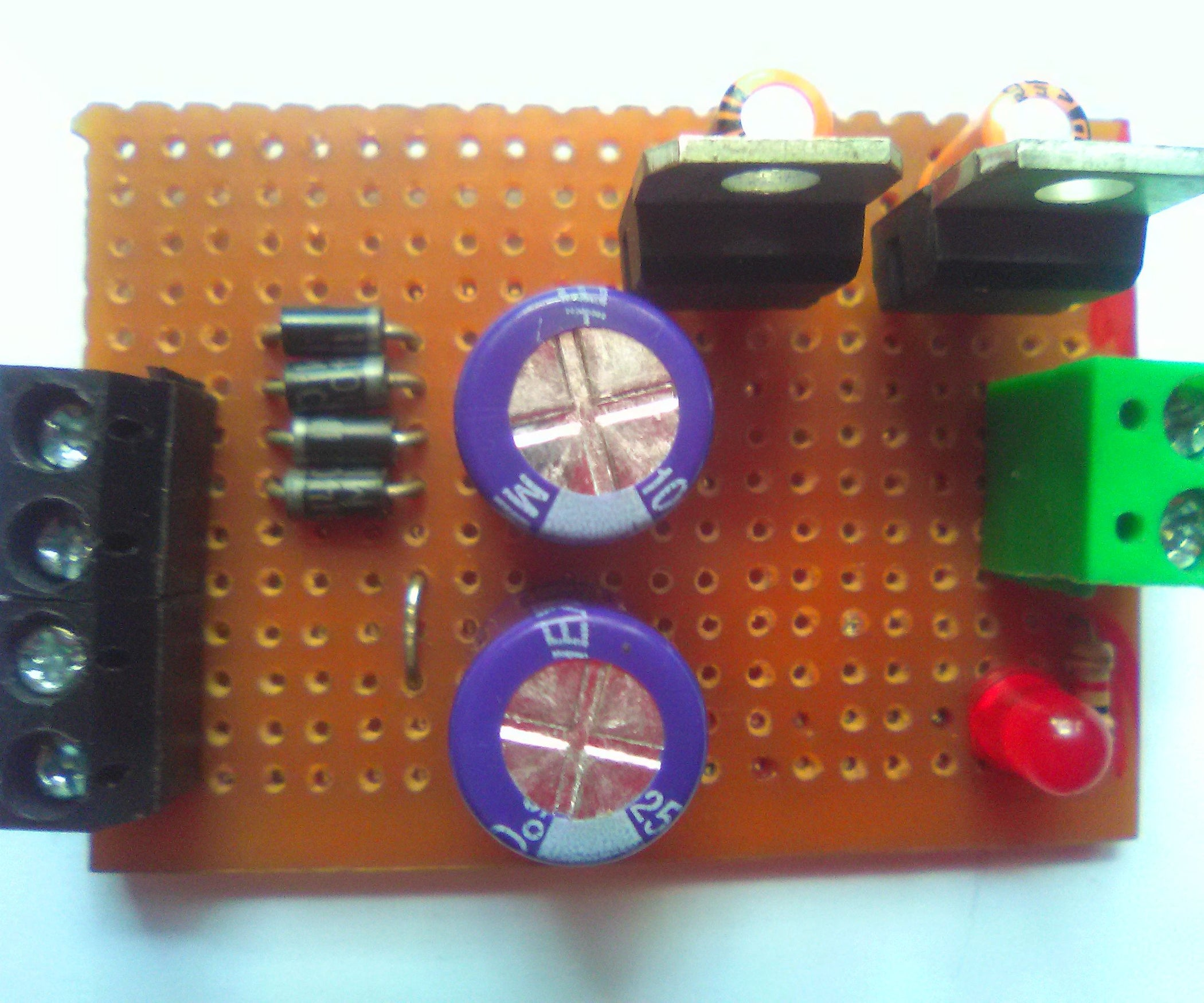 5v And Dual Regulated Power Supply 6 Steps With Pictures 7805 Pin Diagram