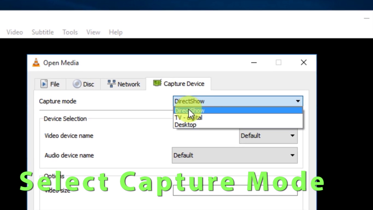 """Picture of 4::  Select Capture Mode to """"Desktop"""""""