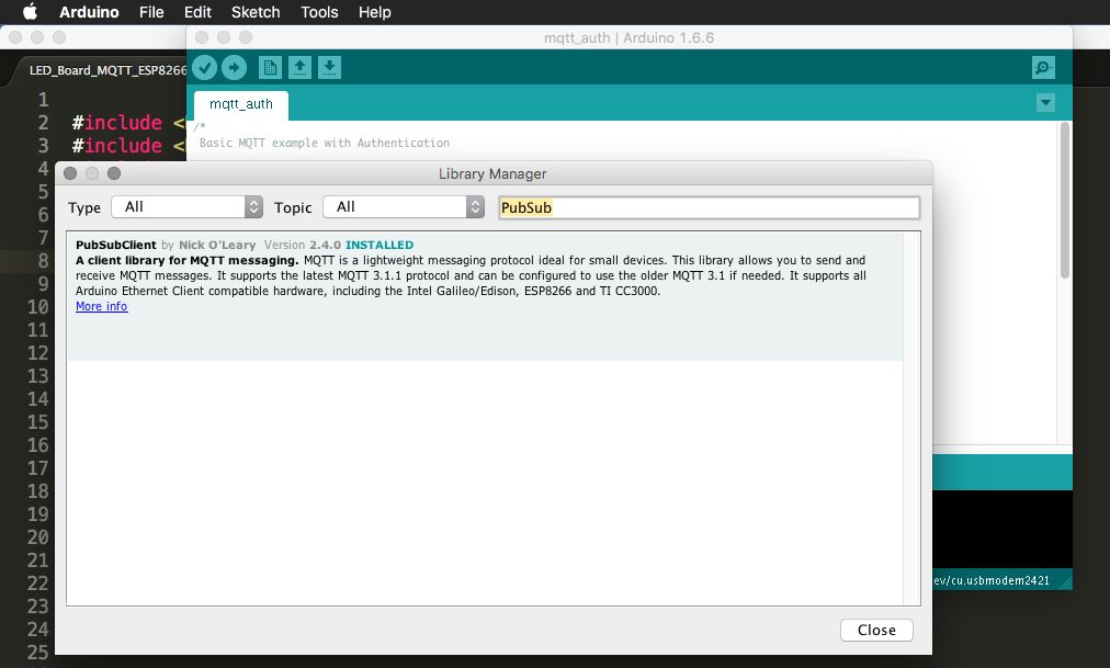 Picture of Add PubSubClient Library to the Arduino IDE