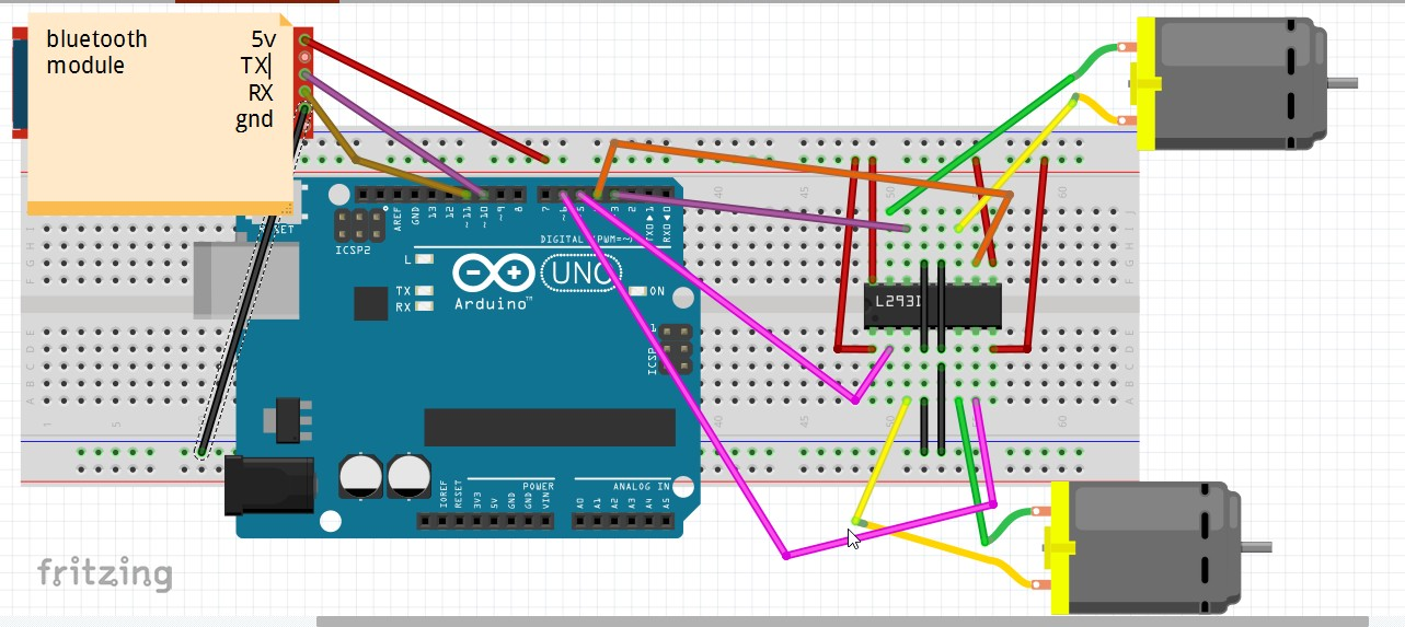 Picture of Bluetooth Controlled Robot by Using Arduino
