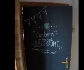 Convert Your Door Into a Chalkboard